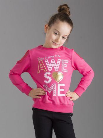 Różowa bluza dla dziewczynki z nadrukiem