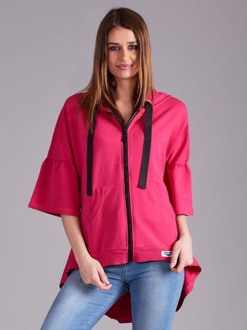 Różowa bluza dresowa z szerokimi rękawami