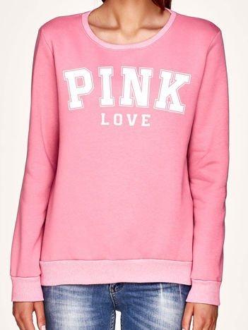 Różowa bluza z napisem PINK LOVE