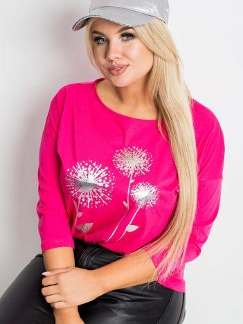 Różowa bluzka plus size Dreamer