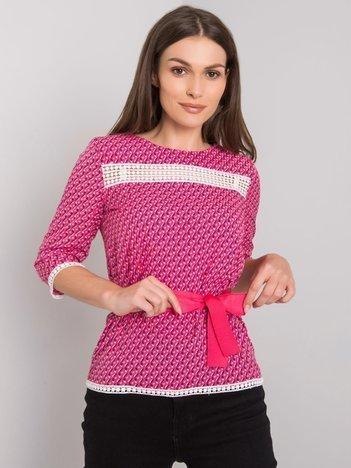 Różowa bluzka we wzory Ifrah
