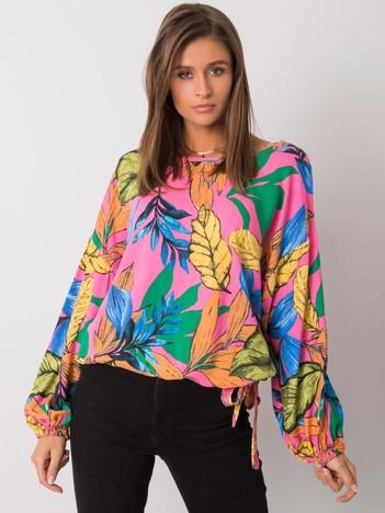 Różowa bluzka z nadrukiem Saadia