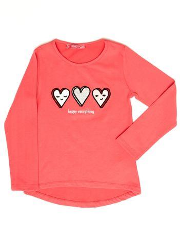 Różowa bluzka z serduszkami