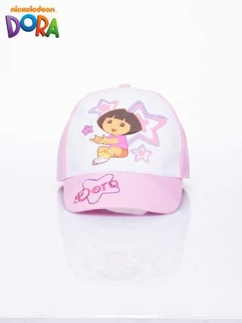 Różowa czapka z daszkiem dla dziewczynki DORA