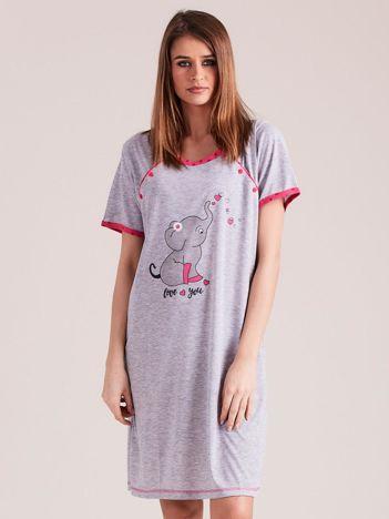 Różowa koszula nocna do karmienia