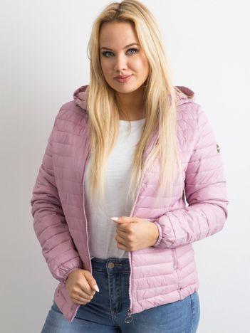 Różowa kurtka przejściowa PLUS SIZE