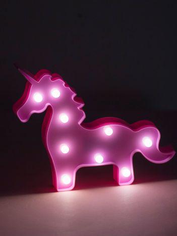 Różowa lampka LED na biurko w kształcie jednorożca