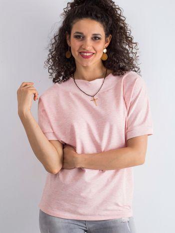 Różowa melanżowa bluzka Lemontree