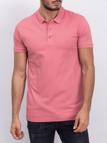 Różowa męska koszulka polo Numerous