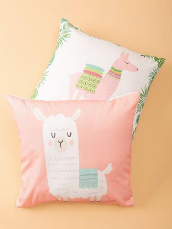 Różowa poduszka z nadrukiem