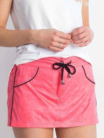 Różowa spódnica z szortami Empire