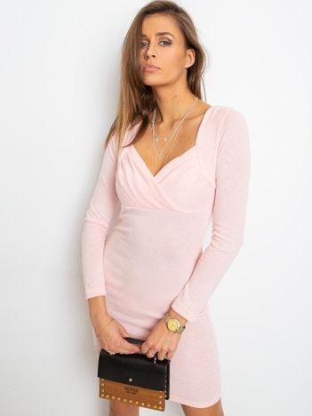 Różowa sukienka Swan