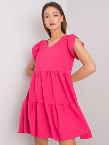 Różowa sukienka na co dzień Mirabelle RUE PARIS