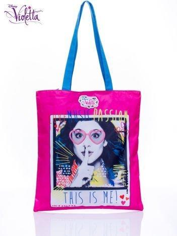 Różowa torba shopper bag dla dziewczynki DISNEY Violetta