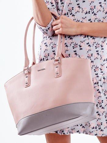 Różowa torba shopper bag two tone