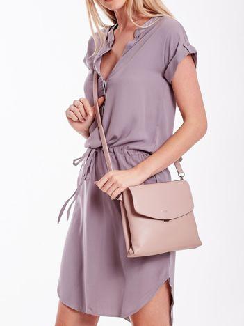 Różowa torebka damska z klapką