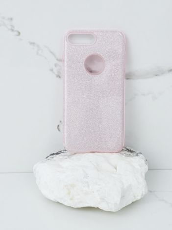 Różowe brokatowe etui do iPhone 7G/8G Plus