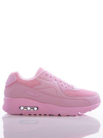 Różowe buty sportowe na sprężystej podeszwie