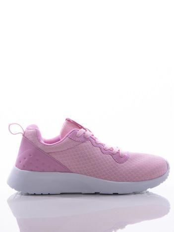 4267fb23 Różowe buty sportowe na sprężystej podeszwie z ciemniejszą wstawką na pięcie