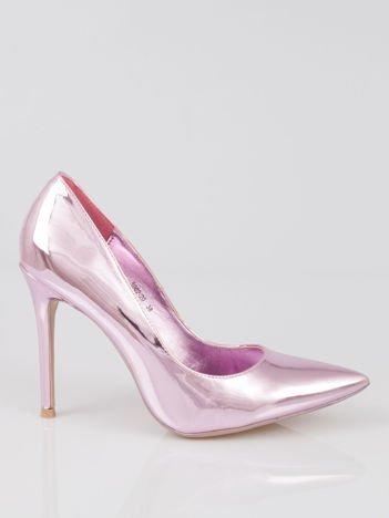 Różowe metaliczne szpilki w szpic Pinky