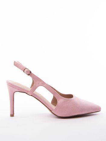 Różowe sandały Sabatina z noskiem w szpic bez pięty