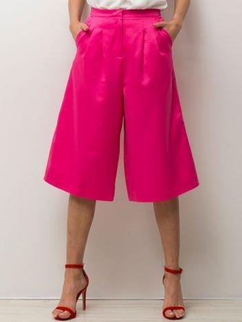 Różowe spódnicospodnie typu culottes