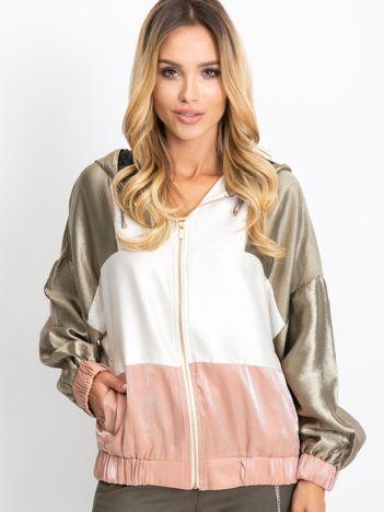 Różowo-biała bluza Cairo