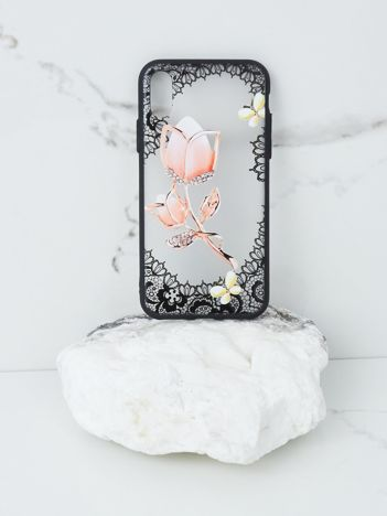 Różowo-czarne etui do iPhone X