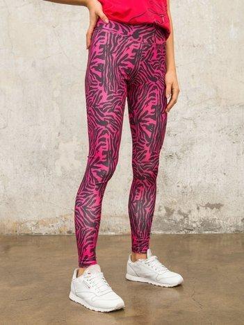 Różowo-czarne legginsy Chemical