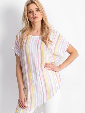 Różowo-żółta bluzka Undeniably