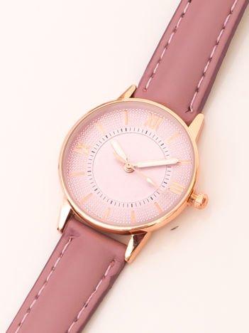 Różowy Elegancki Mały Zegarek Damski W Czerwonym Złocie