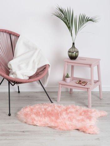 Różowy dywanik shaggy