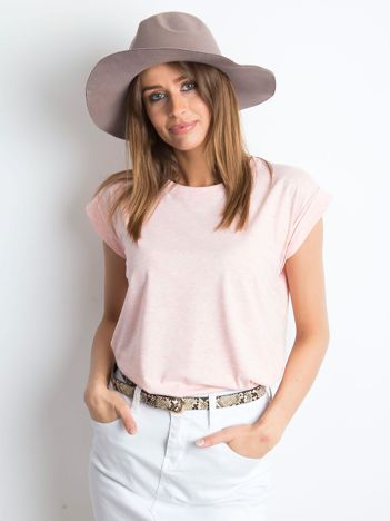 Różowy melanżowy t-shirt Revolution