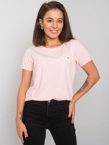 Różowy melanżowy t-shirt Transformative