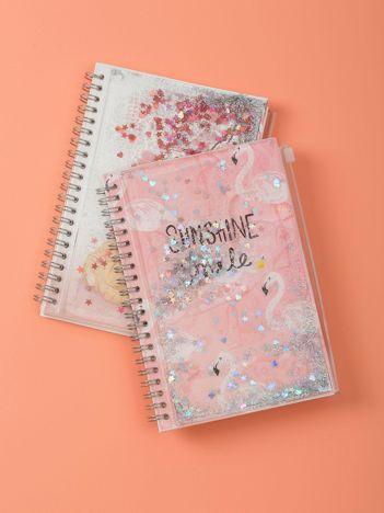 Różowy notes we flamingi