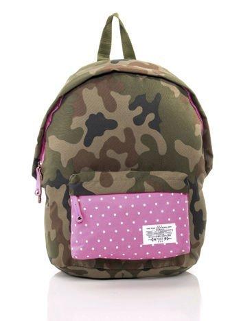 Różowy plecak szkolny z motywem moro