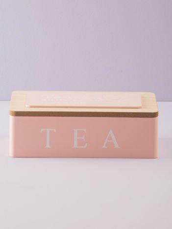 Różowy pojemnik na herbatę