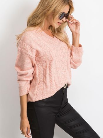 Różowy sweter Chill