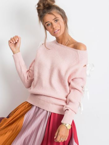 Różowy sweter Hailee