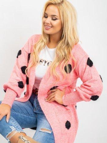 Różowy sweter plus size Nicki