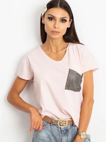 Różowy t-shirt Shelly