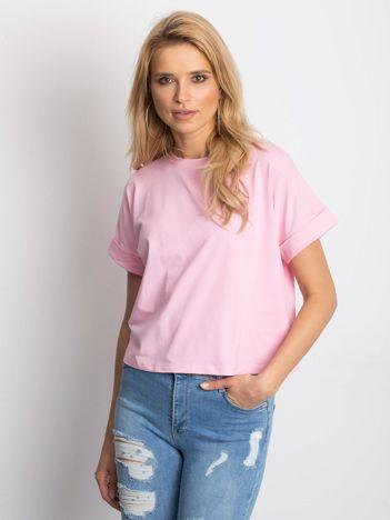 Różowy t-shirt Woodland