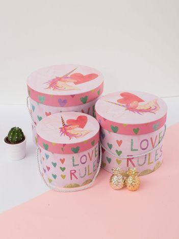 Różowy zestaw pudełek