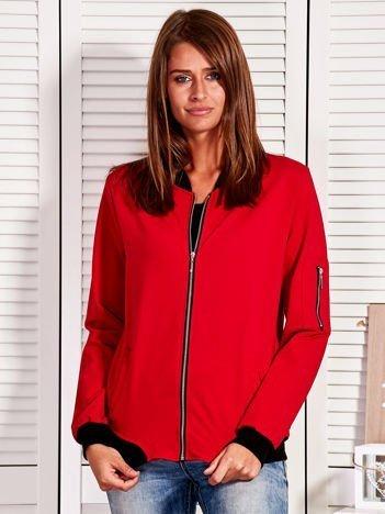 Rozpinana bluza z naszywką LOVE ME TENDER czerwona
