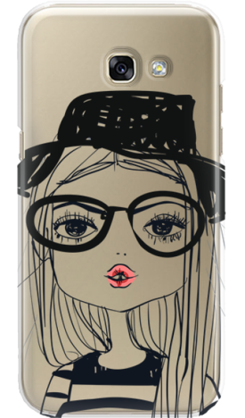 SAMSUNG A3 2017 GIRL WITH PINK LIPS