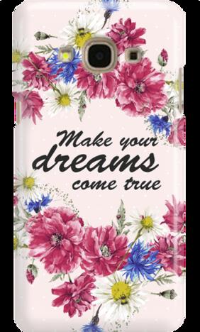 SAMSUNG J3 2017 DREAMS FLOWERS