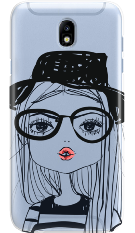SAMSUNG J7 2017 GIRL WITH PINK LIPS