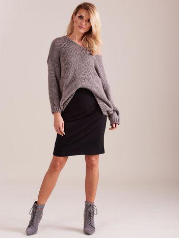 SCANDEZZA Beżowy luźny sweter