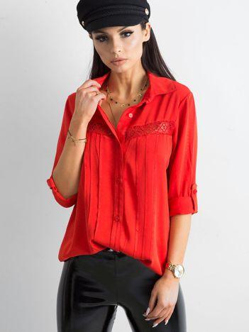 SCANDEZZA Czerwona koszula