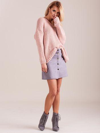 SCANDEZZA Jasnoróżowy luźny sweter